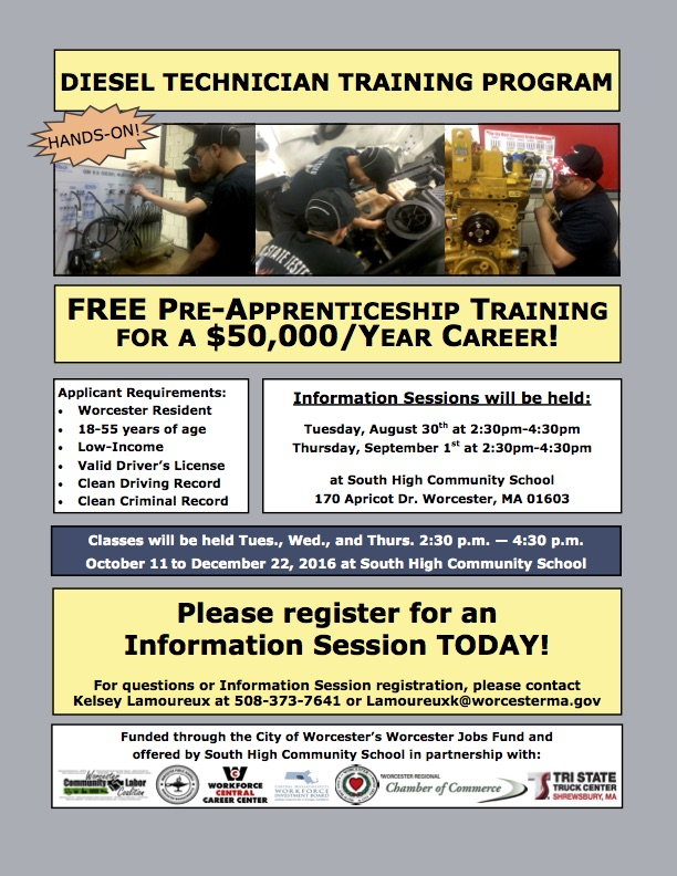 Diesel Tech Info Session Flyer